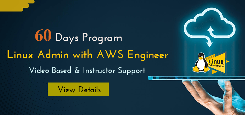 60 Days Program - 'Linux Admin with AWS Engineer'